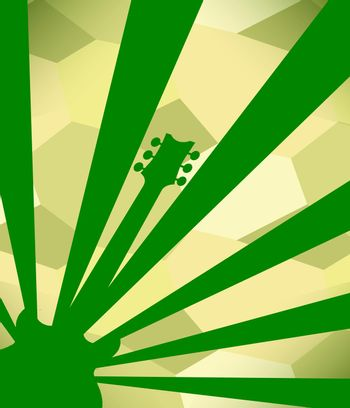 Guitar Green Poster Background