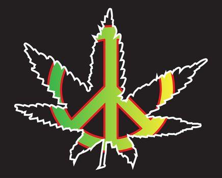 Jamaice Flag Peace Symbol