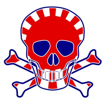 Japanese Flag Skull
