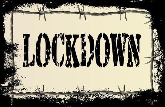 Lockdown Barbed Wire Grunge