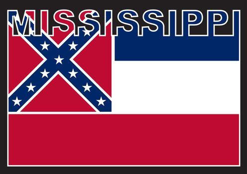 Mississippi Text Flag