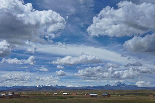 Fantastic horizon above Altiplano, Bolivia, South America