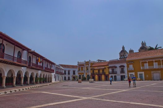Cartagena, Old city street view, Colombia, South America
