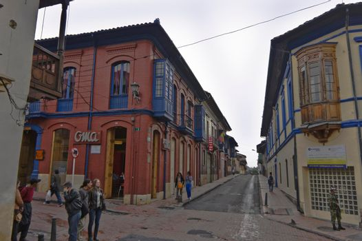 Bogota, Old city street view, Colombia, South America