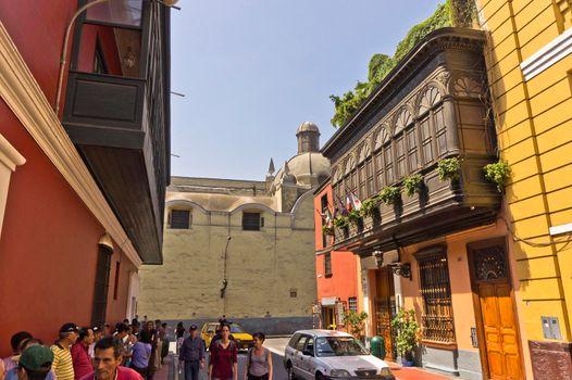 Lima, Old city street view, Peru, South America