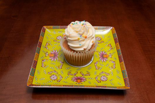 Delicious bakery product known as the vanilla cupcake