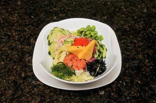 Delicious dish known as a tuna salmon salad