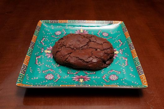 Authentic traditional confectionary food known as the fudge cookie