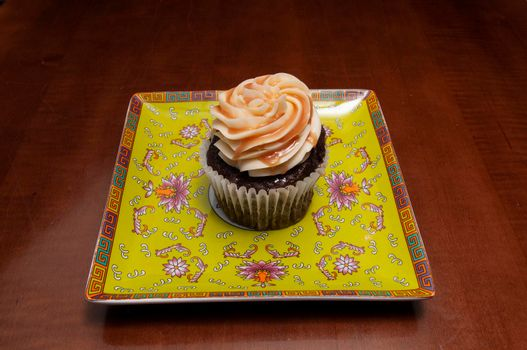 Delicious bakery product known as the chocolate caramel cupcake