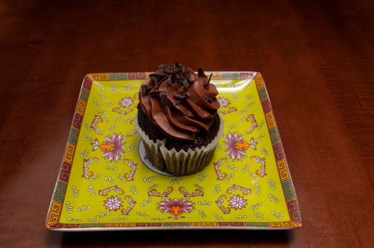 Delicious bakery product known as the chocolate butter cream cupcake