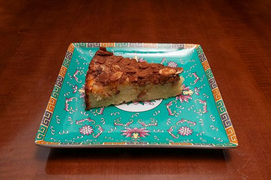 Delicious baked good known as the apple almond cake