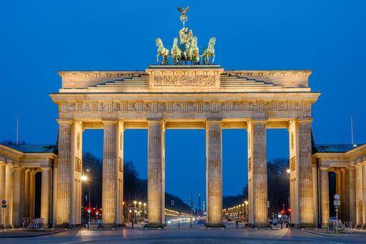 The Brandenburg Gate at dawn