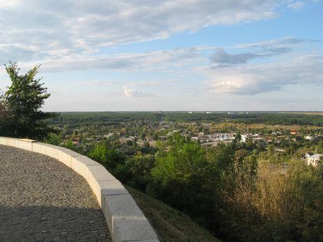 View from Chigirin Castle to village below.
