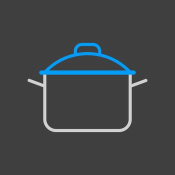 Saucepan icon. Cooking pot or pan sign