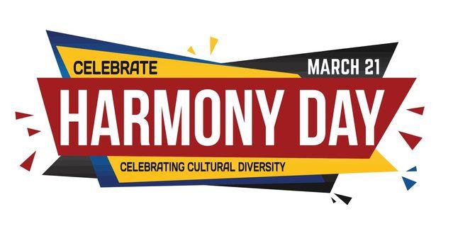 Celebrate Harmony day banner design