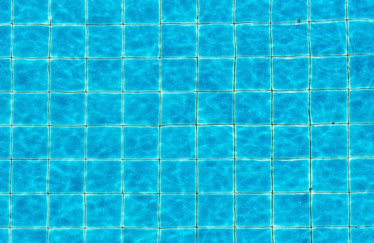 Top view swimming pool blue ripped water abstract background