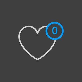 Favorites vector icon. E-commerce sign