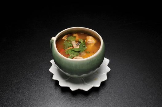 Delicious Asian dish known as mushroom soup