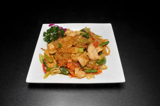 Delicious Asian dish known as pad woon sen