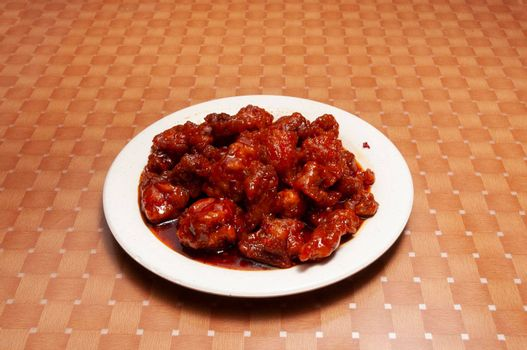 Traditional and authentic Chinese cuisine known as sgeneral tsu chicken