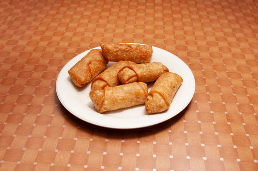 Delicious Chinese dish known as egg rolls