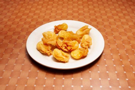 Authentic traditional Chinese cuisine dish known as crab rangoon