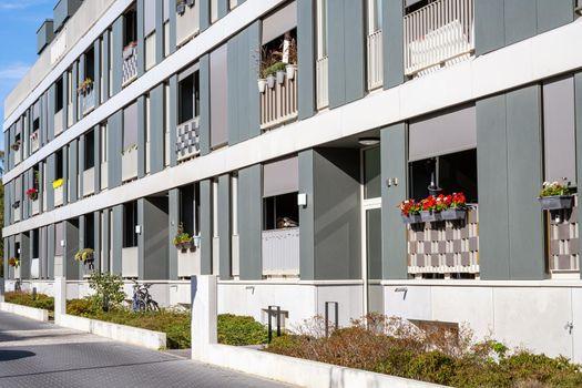 Modern row apartment houses