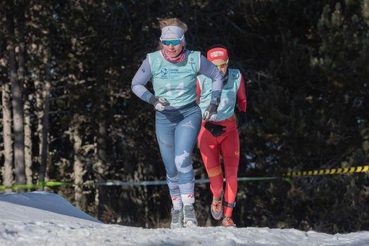 Elisabeth Sveum NOR in the 2021 World Triathlon Winter Championships Andorra