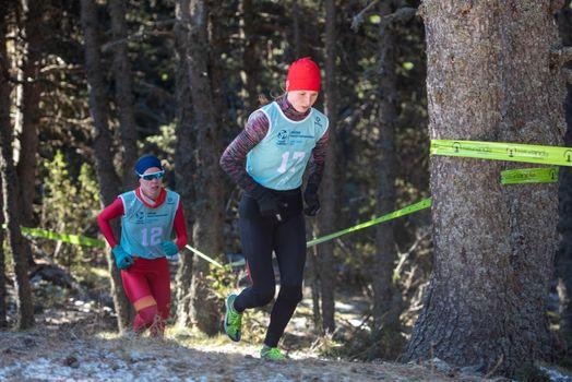 NadezhdaBelkina RUS  in the 2021 World Triathlon Winter Championships Andorra