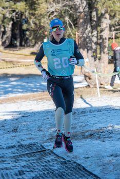 OlgaCheremisinova RUS in the 2021 World Triathlon Winter Championships Andorra