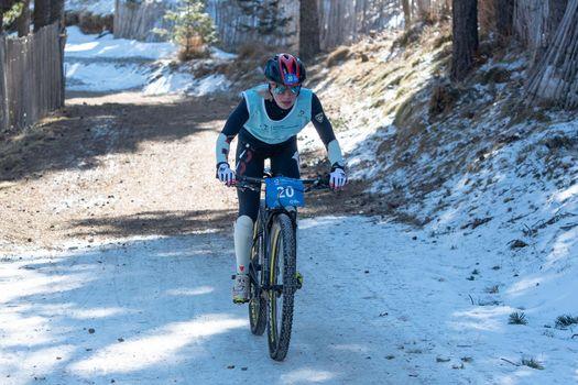 Naturlandia, Andorra : 2021 March 20 : OlgaCheremisinova RUS in the 2021 World Triathlon Winter Championships Andorra