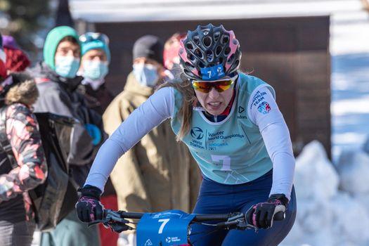 Naturlandia, Andorra : 2021 March 20 : Aneta Grabmullerova  CZN in the 2021 World Triathlon Winter Championships Andorra
