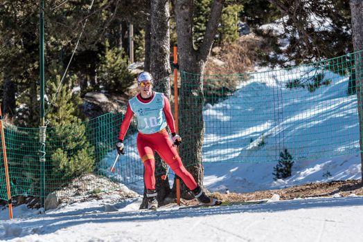 Naturlandia, Andorra : 2021 March 20 : Enara Oronoz ESP in the 2021 World Triathlon Winter Championships Andorra