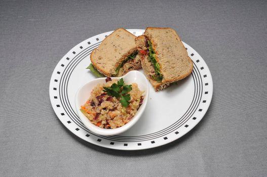 American favorite cuisine known as the tuna fish sandwich