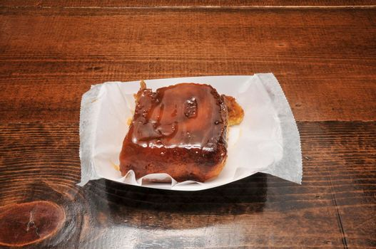 Delicious confectionary treat known as the sticky bun