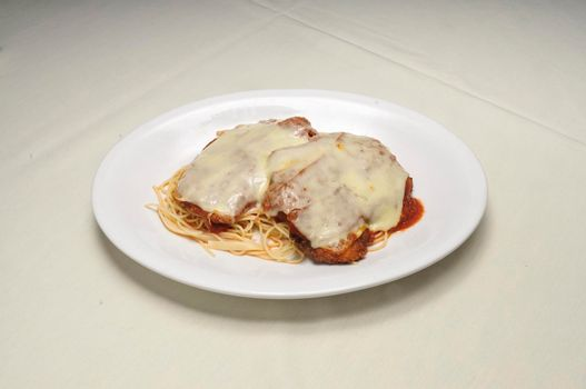 Authentic Italian cuisine known as chicken parmesan