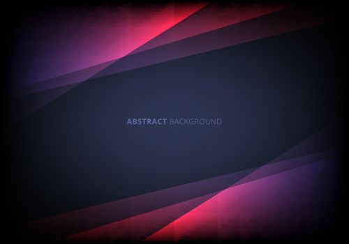 Abstract template pink triangle overlapping layered with lighting effect on dark blue background