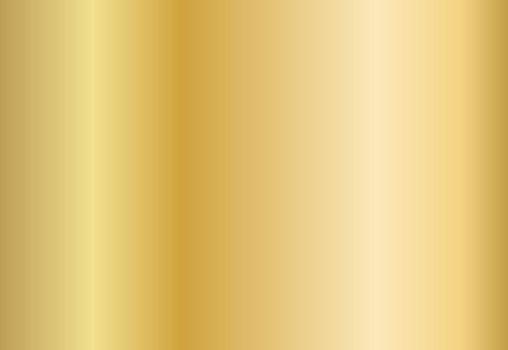Gold foil metal plate. Shine golden gradient backdrop. Yellow ribbon background.