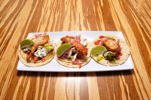 Authentic tex mex mexican cuisine known as a Chicken Taco