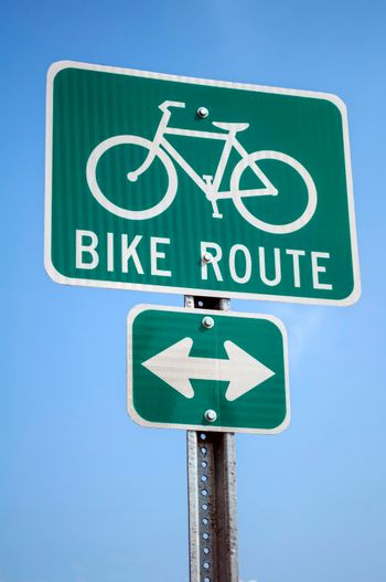 Bicycle route sign.