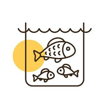 Fish in a pond or aquarium vector icon
