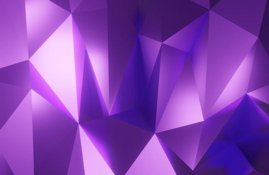 Abstract geometric pattern background polygonal triangle background purple 3d rendering