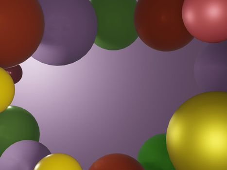 Abstract colorful ball background 3d rendering.