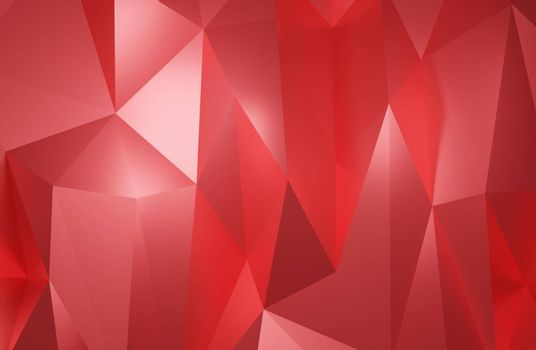 Abstract geometric pattern background polygonal red triangle 3d rendering
