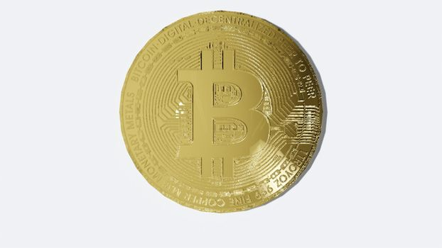 Bitcoin coin Economy and finance concept isolated on white background  3D rendering