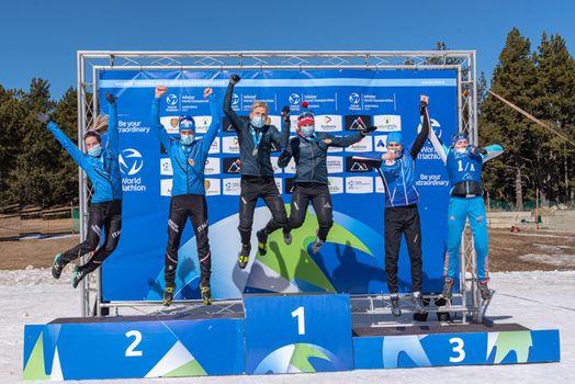 Podium in the 2021 World Triathlon Winter Championships Andorra