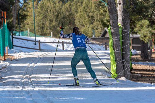 Romana Slavinec AUT in the 2021 World Triathlon Winter Championships Andorra
