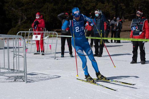 GiuseppeLamastra ITA in the 2021 World Triathlon Winter Championships Andorra