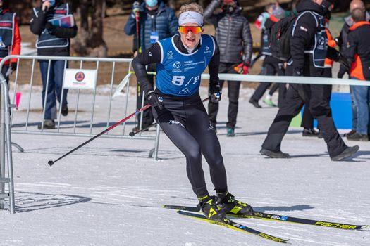 Hans Christian Tungesvik NOR in the 2021 World Triathlon Winter Championships Andorra