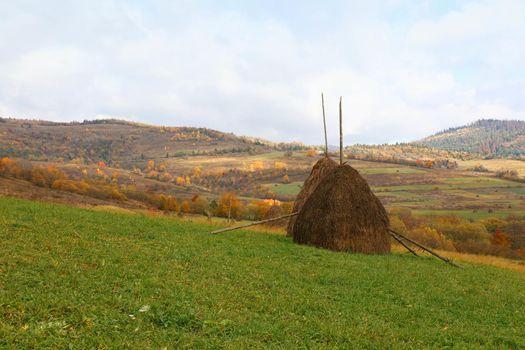 Autumn mountain plain landscape